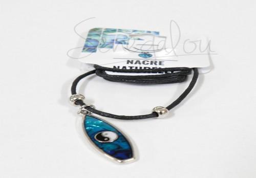 Collier Surf Nacre Bleu