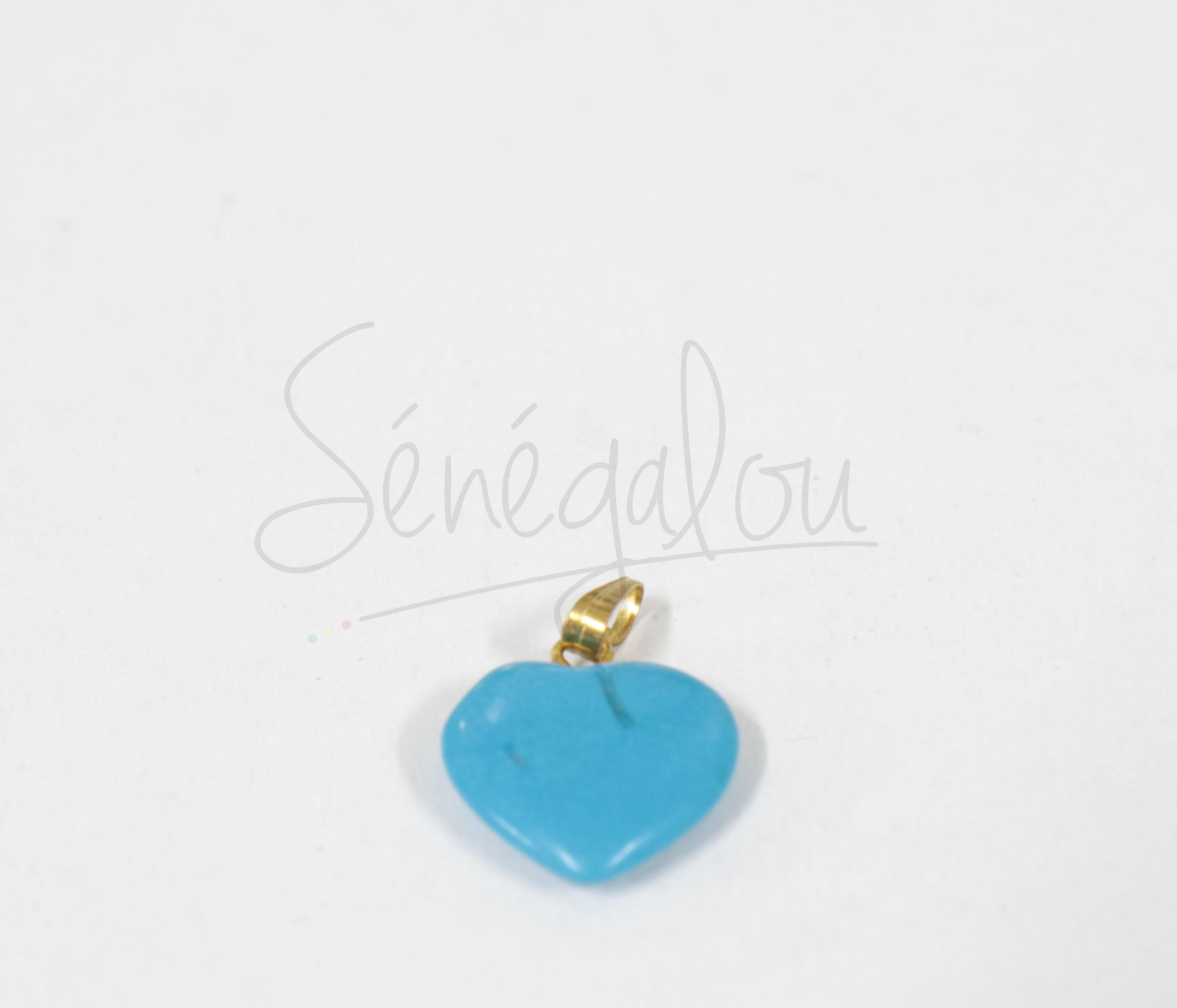 Pendentif Coeur Turquoise