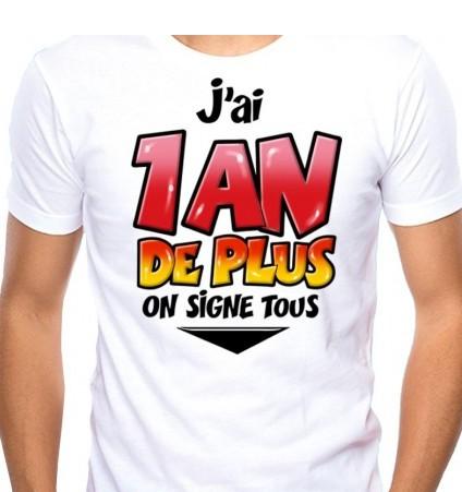 T-shirt à Dédicacer 1 An De Plus