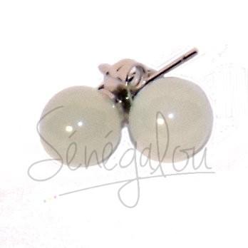 Boucles D'oreilles Jade 8mm