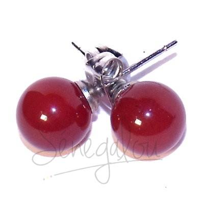 Boucles D'oreilles Cornaline 8mm