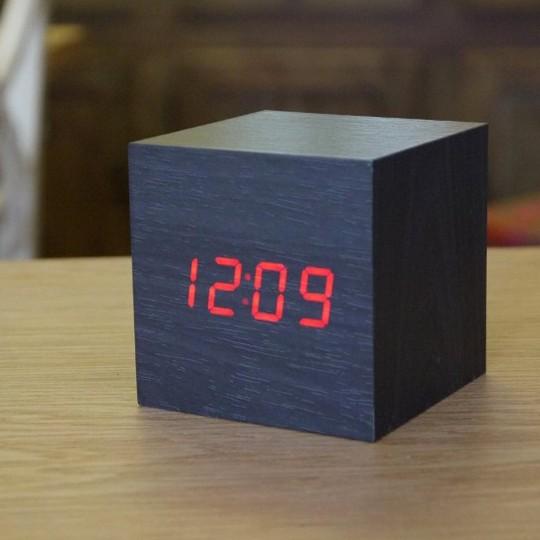 Horloge Réveil Bois