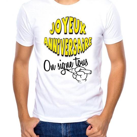 T-Shirt à Dédicacer «Anniversaire»