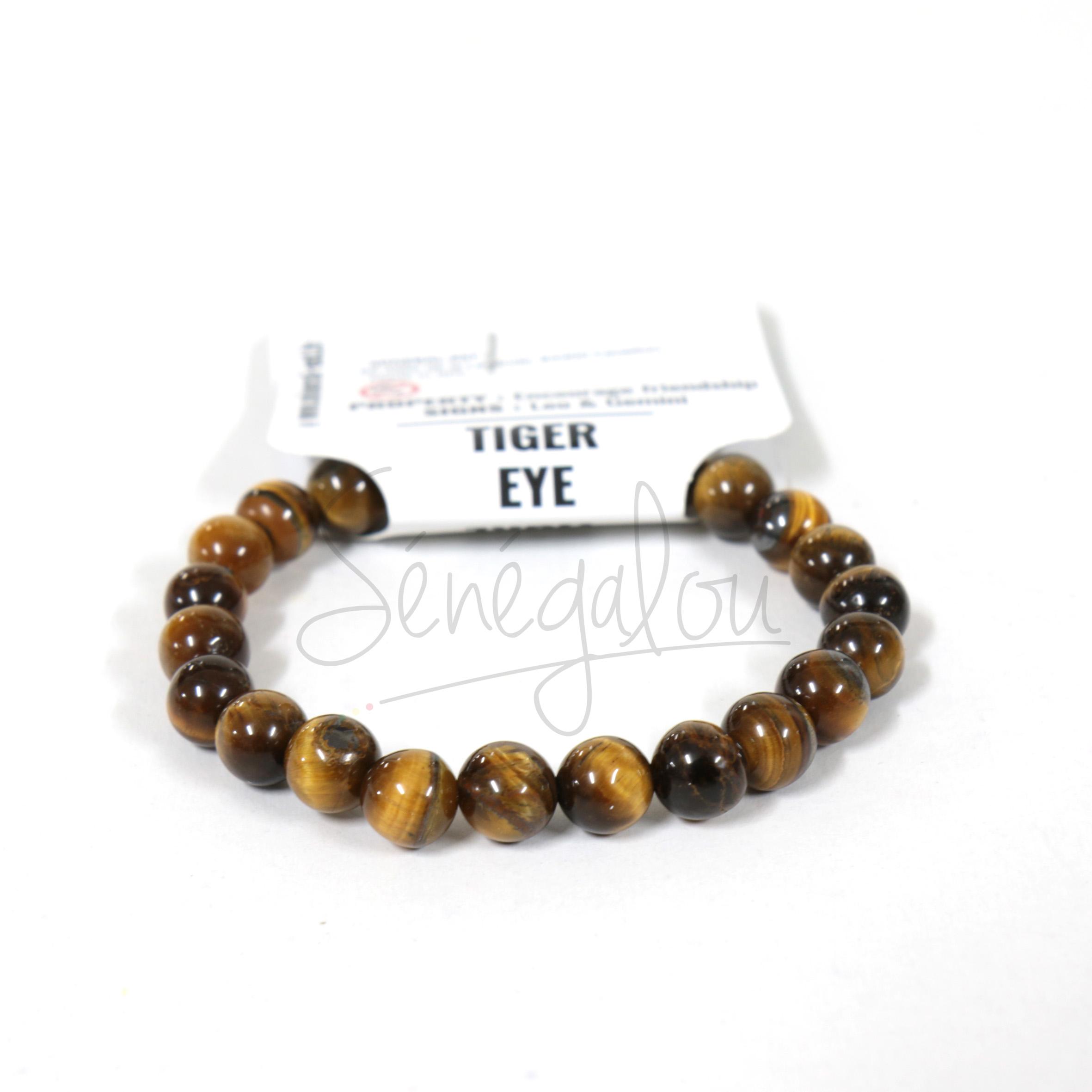 Bracelet Perle 8mm En Oeil De Tigre
