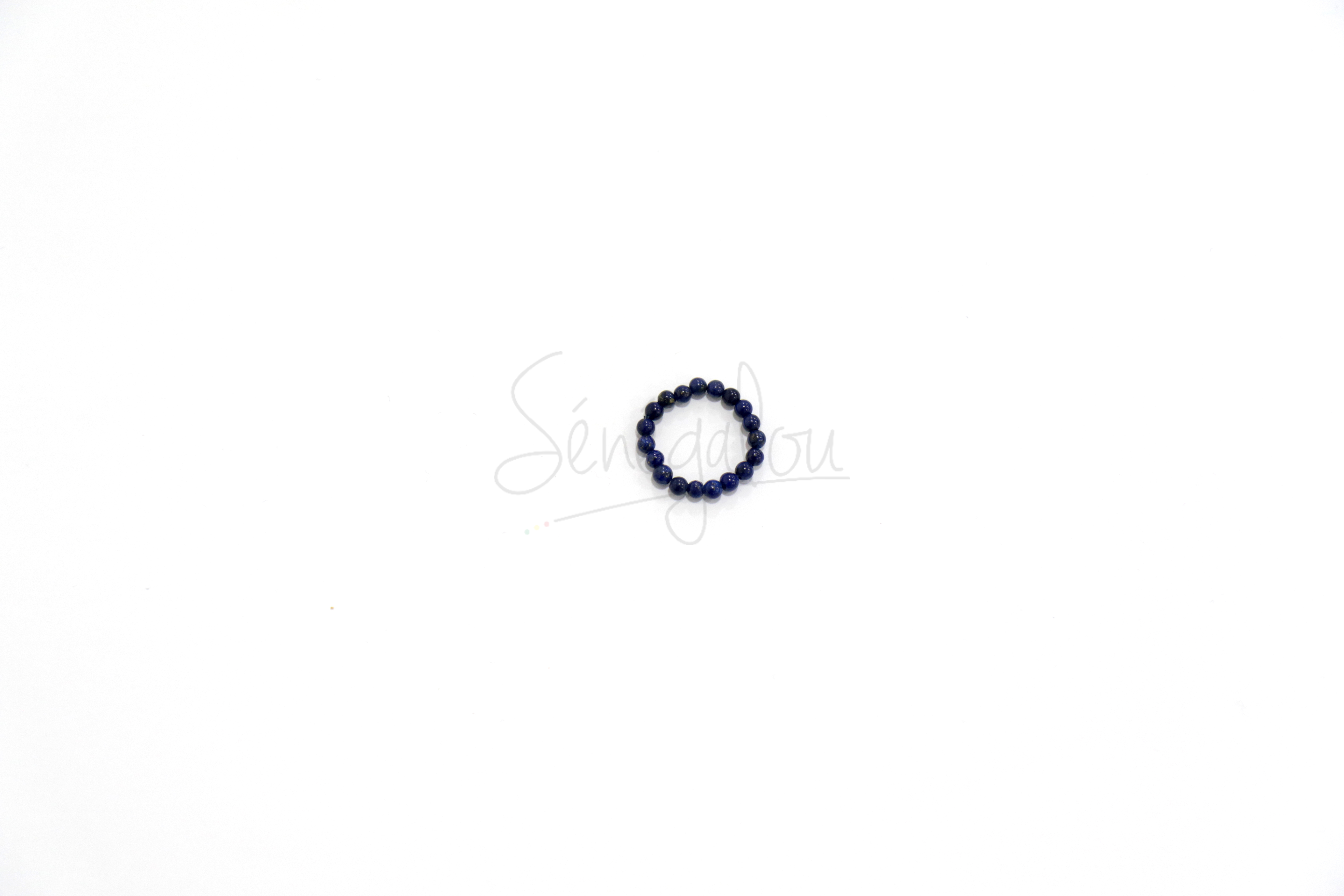 Bague Perles Lapis Lazuli