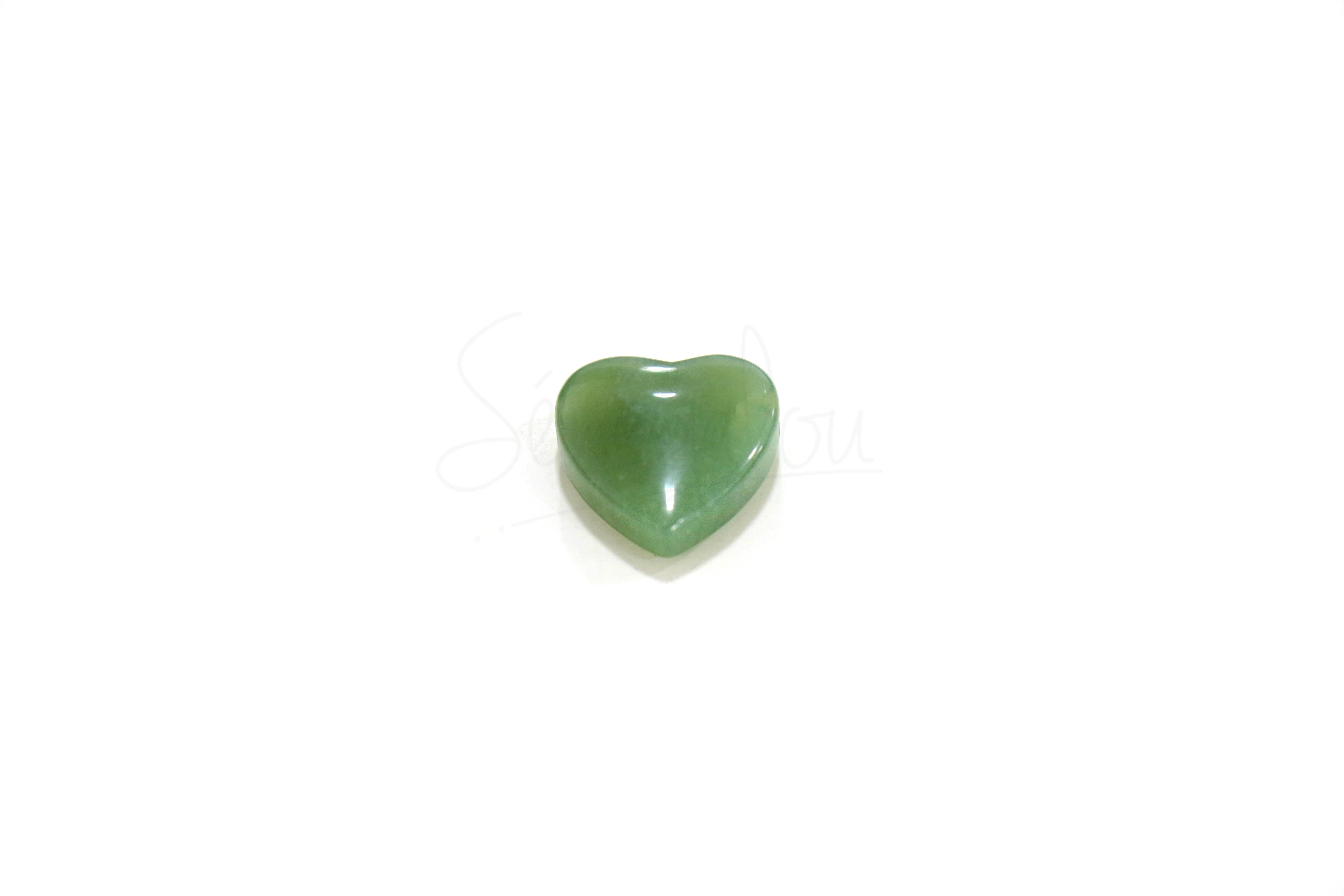 Pendentif Coeur Jade Percé